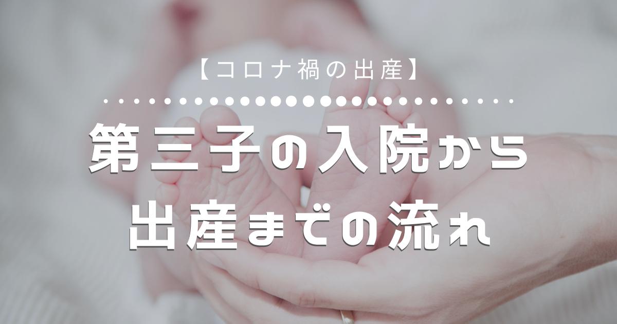 【コロナ禍の出産】第三子の入院から出産までの流れ